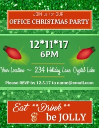 Christmas Office Party Video ใบปลิว (US Letter) template