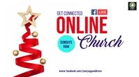 christmas Online church Digitale display (16:9) template