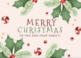 CHRISTMAS ONLINE GREETING CARD WISHES TEMPLAT Postcard template