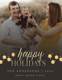 CHRISTMAS ONLINE GREETING CARD WISHES TEMPLAT Flyer (US Letter) template