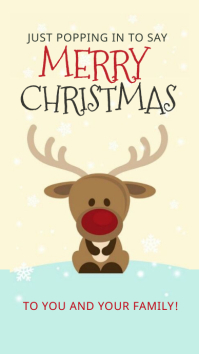 CHRISTMAS ONLINE GREETING CARD WISHES TEMPLAT Instagram Story template