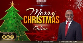 CHRISTMAS ONLINE LIVE EVENT AD TEMPLATE Facebook Shared Image
