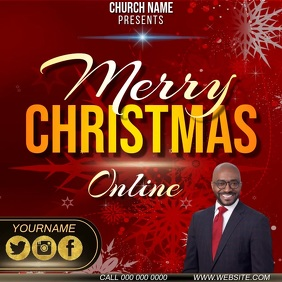 CHRISTMAS ONLINE LIVE EVENT AD TEMPLATE Instagram Post