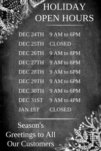 Christmas Open Hours