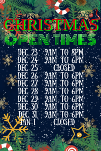 Christmas Open Times Template