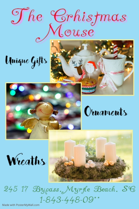 christmas ornaments template postermywall
