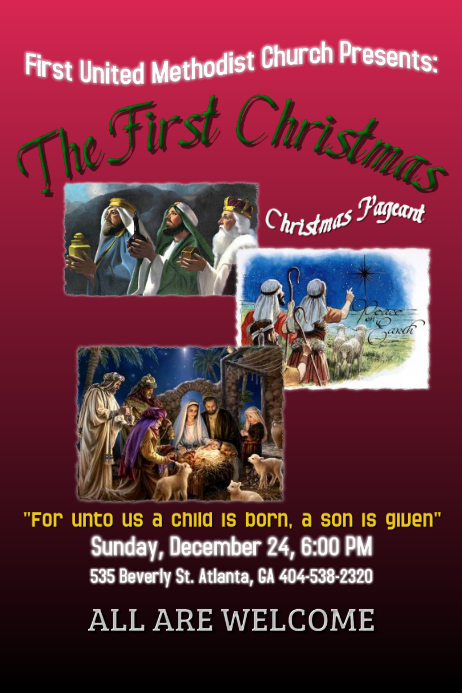 christmas pageant template postermywall