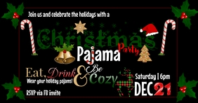 Christmas pajama party Sampul Acara Facebook template