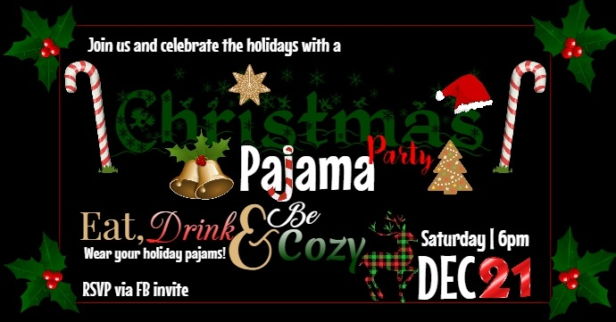 Christmas pajama party