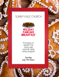 Christmas Pancake Breakfast Flyer Template