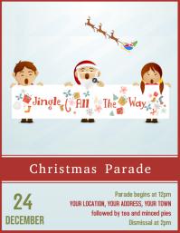 Christmas Parade poster Flyer poster Template 传单(美国信函)