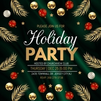 christmas party, holiday party instagram post Persegi (1:1) template