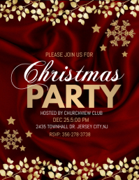 christmas party , christmas dinner Flyer (US Letter) template