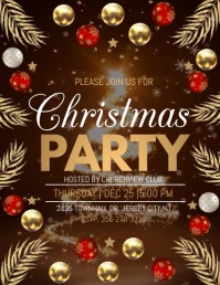 christmas party , holiday party Flyer (US Letter) template