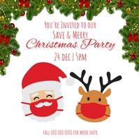 Christmas PARTY ad template Quadrato (1:1)