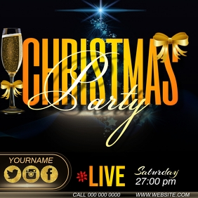christmas party ad template