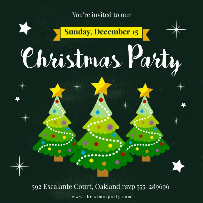 Christmas Party Animated Invite Instagram Post template