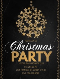 christmas party audio template, christmas Pamflet (Letter AS)