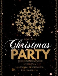 christmas party audio template, christmas Flyer (Letter pang-US)