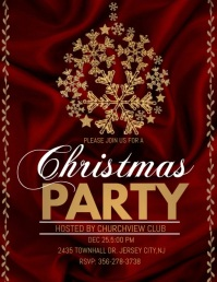 christmas party audio template, christmas Flyer (US Letter)