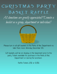 Customizable design templates for raffle postermywall christmas party basket raffle pronofoot35fo Image collections