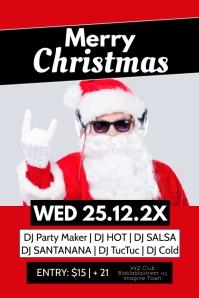 Christmas Party Celebration Club Bar Flyer Ad Плакат template