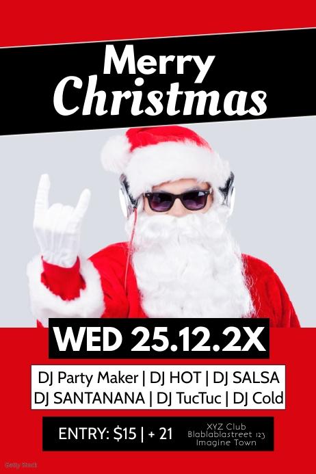 Christmas Party Celebration Club Bar Flyer Ad
