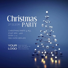 Christmas Party Club Bar Event Show Video ad