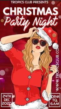 Christmas Party Club Event Digital Template