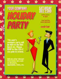 Christmas Party Company Event Flyer Template
