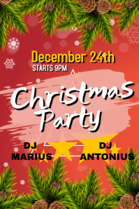 Christmas party December 24th Poster template