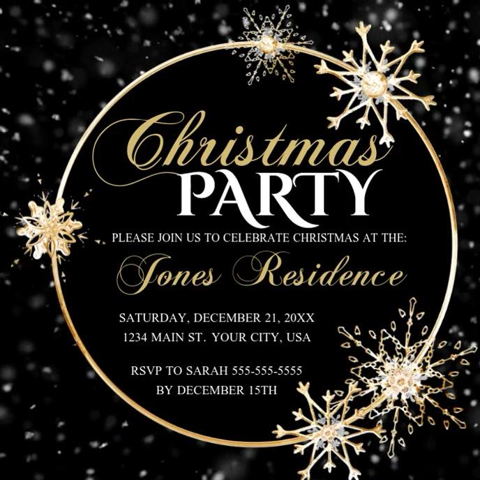 Christmas Party Capa de álbum template