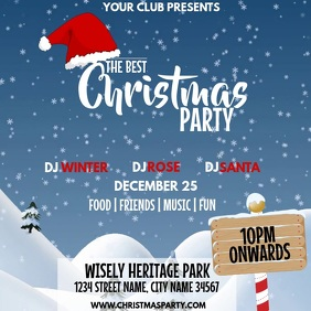 CHRISTMAS PARTY Square (1:1) template
