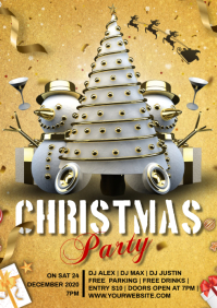 christmas party A4 template