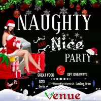 Christmas Party Instagram Plasing template