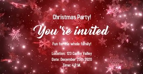 Christmas Party Facebook-annonce template