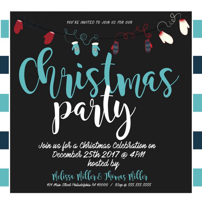 Christmas Party Sampul Album template