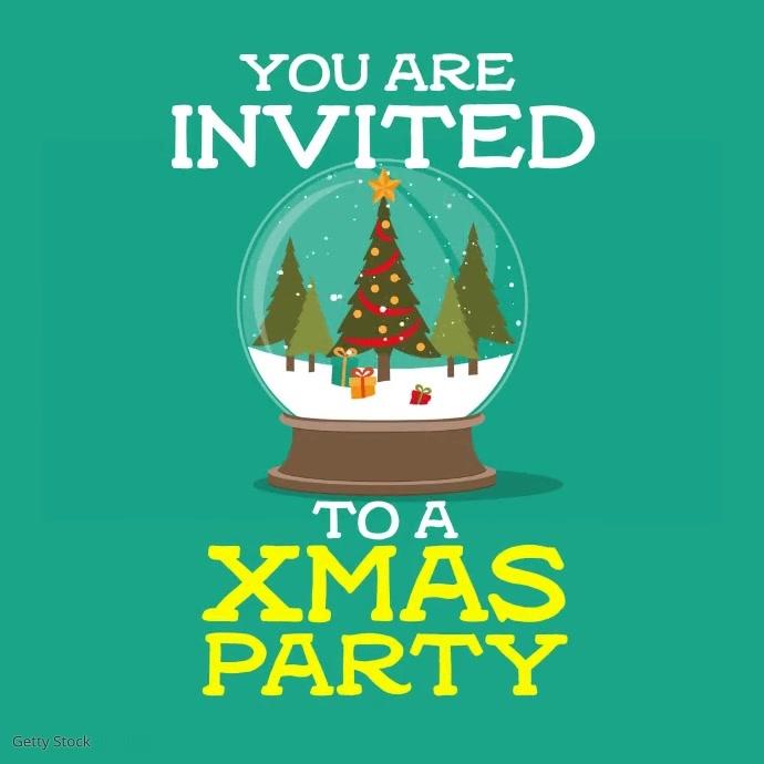 Christmas Party Cuadrado (1:1) template