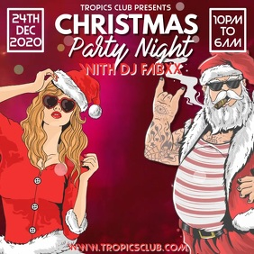 Christmas Party Event Flyer Poster Template