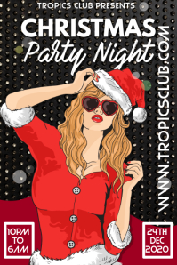 Christmas Party Event Flyer Poster Template Cartaz