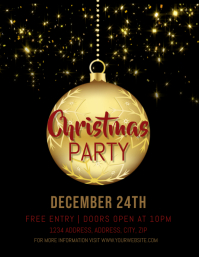Christmas Party Event Flyer Template 传单(美国信函)