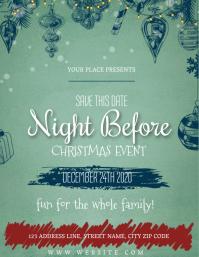 christmas party Event Flyer Template 传单(美国信函)