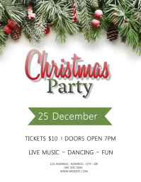 Christmas Party Event Flyer Template