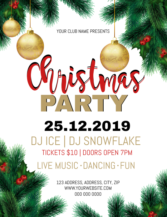 Christmas Party Event Flyer Template PosterMyWall