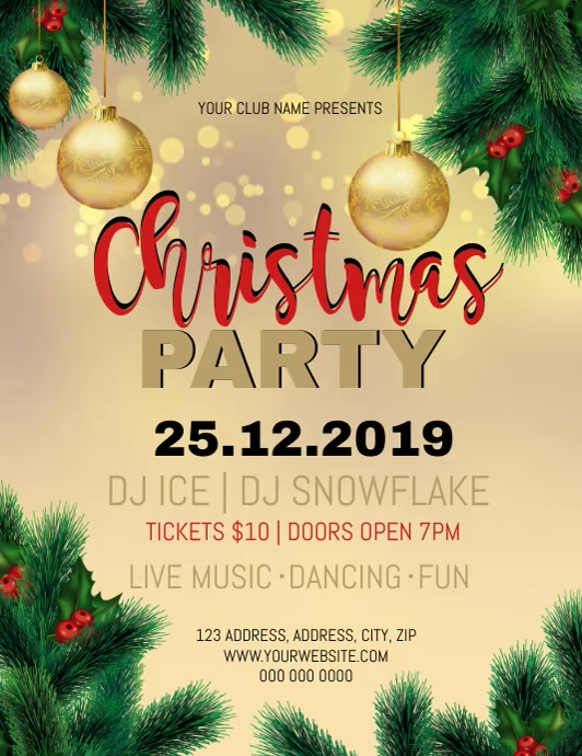 Christmas Party Event Video Flyer Template