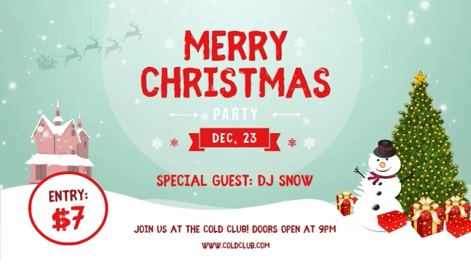 Christmas Party Facebook Cover Video