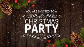 Christmas Party Facebook Cover Video Template