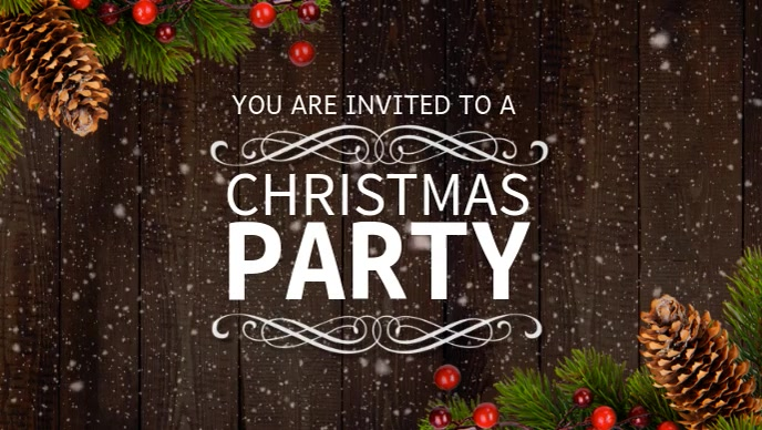 Christmas Party Facebook Cover Video Template | PosterMyWall