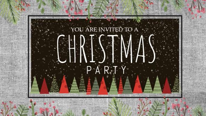 Christmas Party Facebook Cover Video Template Postermywall