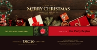 Christmas Party Facebook Shared Image template